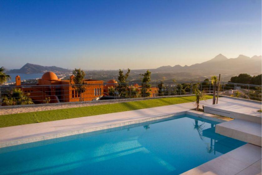 view and pool Sierra de Altea villa for sale